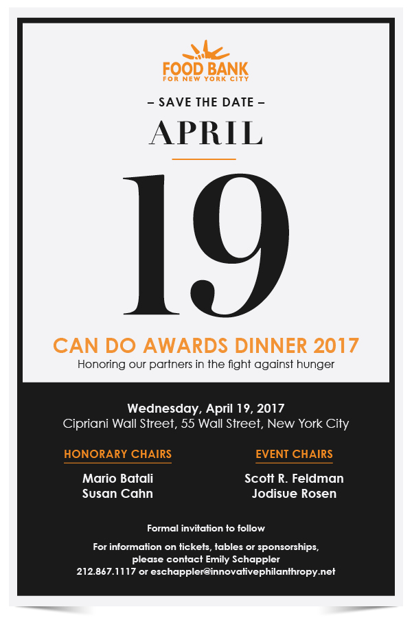 2017 Can Do Awards Save the Date